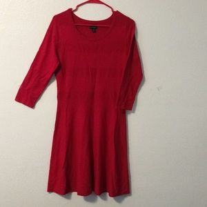 Worthington soft red dress with 3/4 sleeves